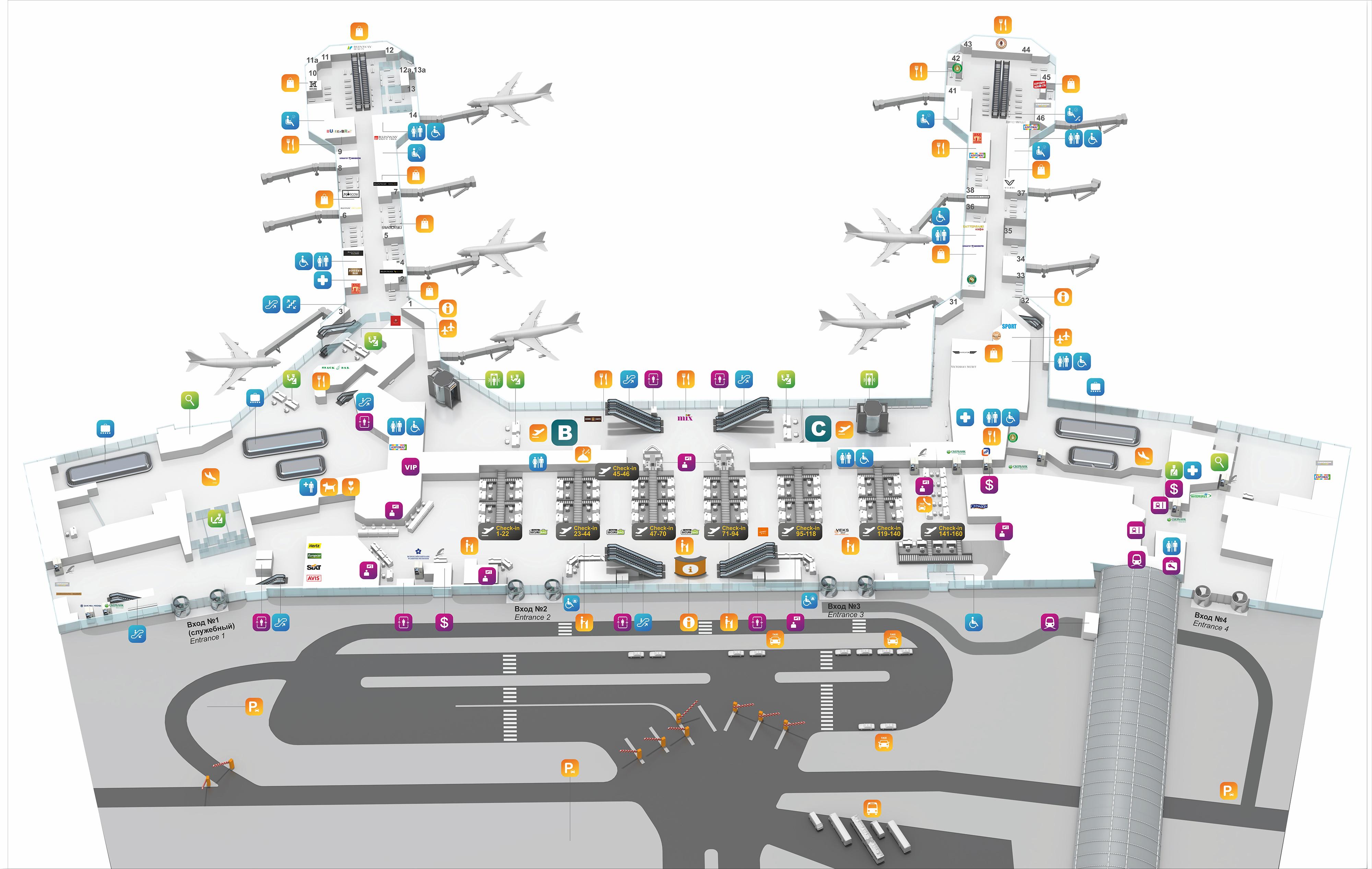 Схема проезда аэропорт домодедово метро